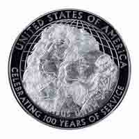 Lions Clubs International 2017 Centennial Proof Silver Dollar Coin