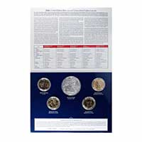 Presidential 2015 One Dollar Four Coin Set