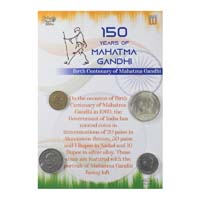 Mahatma Gandhi Commemorative Coins - Set of 4