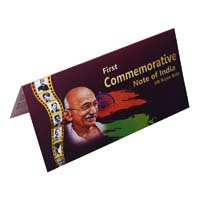 Mahatma Gandhi Commemorative Banknote Description Card- 100 Rupees