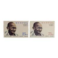 Mahatma Gandhi Postage Stamp - Set of 2 Stamp of Cyprus