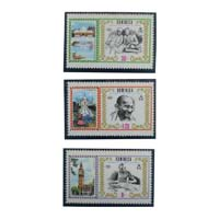 Mahatma Gandhi Postage Stamp - Set of 3 Stamps of Dominica