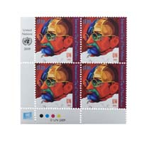 Mahatma Gandhi Postage Stamp - Block of 4 of United States