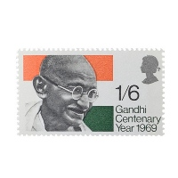 Mahatma Gandhi Postage Stamp - Single stamp of Great Britain