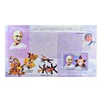 Mahatma Gandhi Postage Stamp - Miniature Sheet of Congo