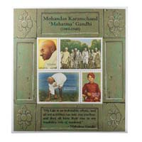 Mahatma Gandhi Postage Stamp - Miniature Sheet of Ghana