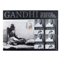 Mahatma Gandhi Postage Stamp -Sheetlet of Micronesia
