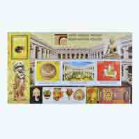 200 years of Indian Museum Kolkata Miniature Sheet Stamp
