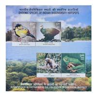 Endemic Species Of Indian Biodiversity Hotspots Miniature Sheet - 2012