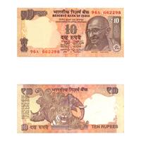 10 Rupees Note of 2014- Raghuram Rajan- M inset