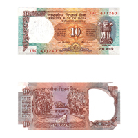 10 Rupees Note of 1992- S. Venkitaramanan- A inset