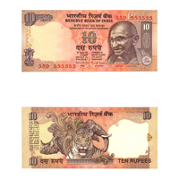 10 Rupees Note of 1997/2003- Bimal Jalan- P inset