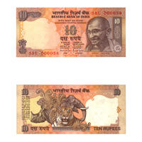 10 Rupees Note of 1997/2003- Bimal Jalan- S inset