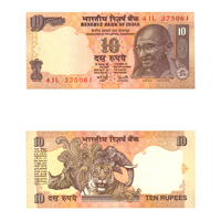 10 Rupees Note of 2003/06- Y. V.  Reddy- A inset