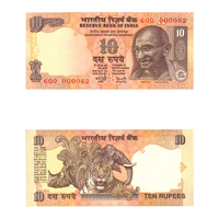 10 Rupees Note of 2003/06- Y. V.  Reddy- R inset