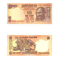 10 Rupees Note of 2006- Y. V.  Reddy- without inset