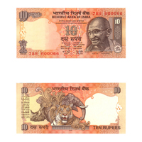10 Rupees Note of 2006- Y. V.  Reddy- R inset