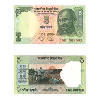 5 Rupees Note of 2001- Bimal Jalan- R inset