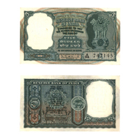 5 Rupees Note of 1962-P.C. Bhattacharya A inset