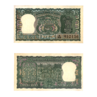 5 Rupees Note of 1967 - L K Jha Without Inset