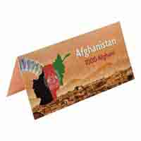 Afghanistan Description Card - 1000 Afghani