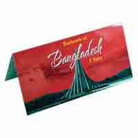 Bangladesh 1 Taka Description Card with Original Banknote