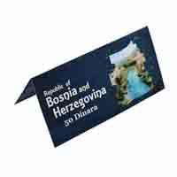 Bosnia and Herzegovina Description Card - 50 Dinara