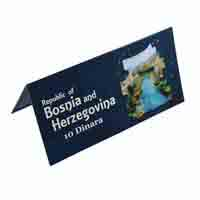 Bosnia and Herzegovina Description Card - 10 Dinara