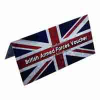 British Armed Forces Ten New Pence Voucher Description Card with Original Banknote