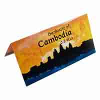 Cambodia 5 Riel Description Card with Original Banknote
