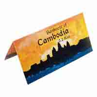 Cambodia 2 Riel Description Card with Original Banknote