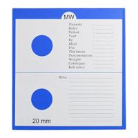 Mintage World 2x4 Cardboard Flip Coin Holder 20 mm