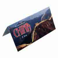 China 2 Fen Description Card with Original Banknote