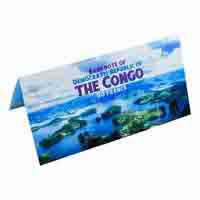 Republic of the Congo 50 Fracs Description Card with original Banknote