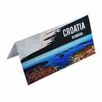 Croatia 10 Dinara Description Card with original Banknote