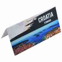 Croatia 5 Dinara Description Card with original Banknote