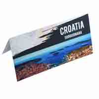 Croatia 50,000 Dinara Description Card with original Banknote