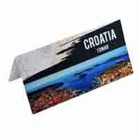 Croatia 1 Dinara Description Card with original Banknote