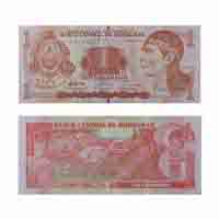 Honduras Currency Note 1 Lempira