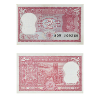 2 Rupees Note R N Malhotra -Error Note