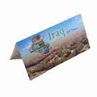 Iraq 25 Dinar Description Card with original Banknote