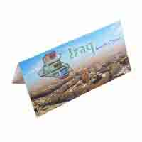 Iraq Quarter Dinar Description Card with original Banknote