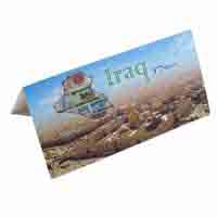 Iraq 1 Dinar Description Card with original Banknote