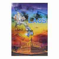 Set of 5 Laos Currency Notes - Kip