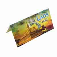Laos Banknote 20 Kip with Description