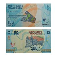 Madagascar 100 Ariary Note
