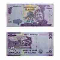 Malawi Currency Note 20 Kwacha