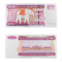 Myanmar Currency Note 5000 Kyat