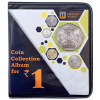 Mintage World Coin Collection Album Cum Reference Book 1 Rupee 160 Pockets