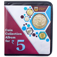 Mintage World Coin Collection Album Cum Reference Book 5 Rupees 160 Pockets